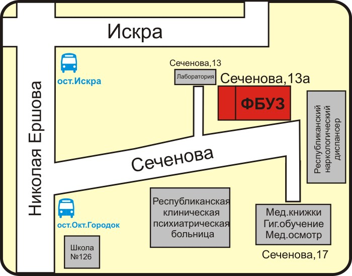 Татарстан. Схема проезда.